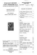 Italian Books And Periodicals