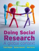 EBOOK  Doing Social Research  A Global Context