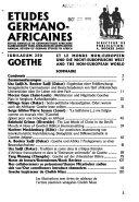 Études germano-africaines