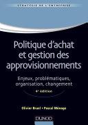 Politique d'achat et gestion des approvisionnements - 4ème édition