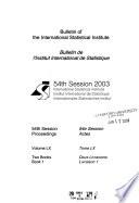 Bulletin de L'Institut International de Statistique