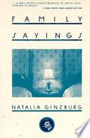 """Family Sayings"" by Natalia Ginzburg"