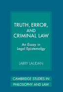 Truth, Error, and Criminal Law