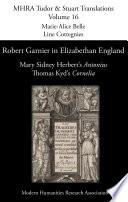 Robert Garnier In Elizabethan England