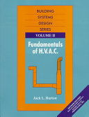Fundamentals Of H V A C  Book PDF