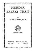 Murder Breaks Trail