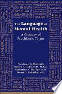The Language of Mental Health
