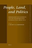 People  Land  and Politics
