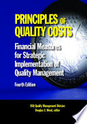 Principles of Quality Costs, Fourth Edition