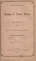 Proceedings of The Academy of Natural Sciences (Part III -- Sept.-Dec., 1891) Pdf/ePub eBook