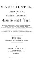 The Manchester commercial list  afterw   The Manchester   district commercial list  afterw   The Manchester  cotton district and general Lancashire commercial list