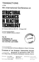 Transactions of the 4th International Conference on Structural Mechanics in Reactor Technology  San Francisco  California  USA  15 19 August 1977