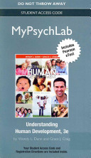 New Mypsychlab with Etext    Standalone Access Card    For Understanding Human Development