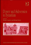 Power and Subversion in Byzantium