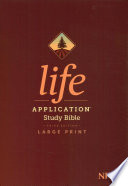 NIV Life Application Study Bible, Third Edition, Large Print (Red Letter, Hardcover, Indexed)