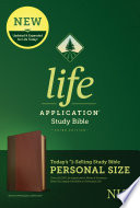 NLT Life Application Study Bible, Third Edition, Personal Size (Leatherlike, Brown/Tan)
