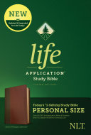 NLT Life Application Study Bible  Third Edition  Personal Size  Leatherlike  Brown Tan