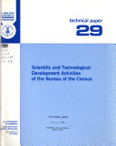 Pdf Scientific and Technological Development Activities of the Bureau of the Census