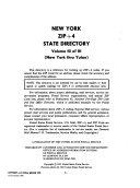 New York ZIP 4 State Directory
