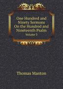 One Hundred and Ninety Sermons On the Hundred and Nineteenth Psalm [Pdf/ePub] eBook