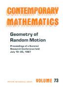 Geometry of Random Motion