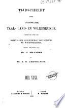 Tijdschrift Voor Indische Taal Land En Volkenkunde