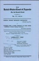 Federal Deposit Insurance Corporation V  Citizens Bank   Trust Company of Park Ridge  Illinois