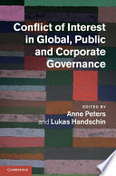 Conflict Of Interest In Global Public And Corporate Governance Book PDF