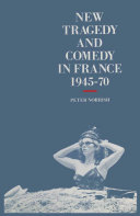 New Tragedy and Comedy in France, 1945-70 Pdf/ePub eBook