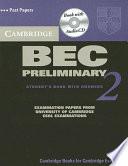 Cambridge BEC Preliminary 2 Self Study Pack