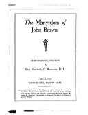 The Martyrdom of John Brown
