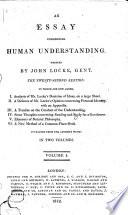 An analysis of Mr. Locke's doctrine of ideas in his Essay on human understanding (fold. tab.) ; Of human understanding