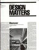 Federal Design Matters