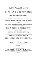 Kit Carson s Life and Adventures