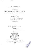 Address Delivered Before the British Association Assembled at Belfast
