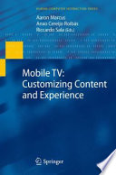 Mobile TV  Customizing Content and Experience