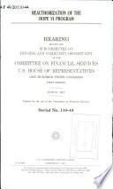 Reauthorization of the HOPE VI Program Book