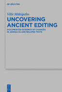 Uncovering Ancient Editing
