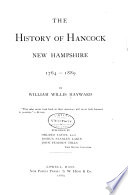 The History of Hancock  New Hampshire  1764 1889 Book PDF
