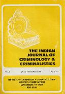 The Indian Journal of Criminology   Criminalistics Book