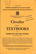 Circular Relative to Textbooks for Elementary and High Schools