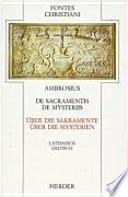 De sacramentis ; De mysteriis