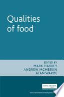 Qualities of Food Book