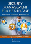 Security Management for Healthcare Book