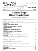 Western Legal History Undercover