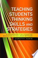 Teaching Students Thinking Skills and Strategies Book PDF