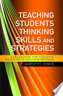 Teaching Students Thinking Skills and Strategies