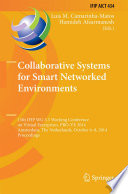 Collaborative Systems for Smart Networked Environments Book