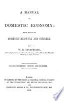A Manual Of Domestic Economy Book PDF