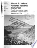 Mt St Helens National Monument  N M    Management Plan